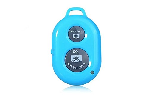 Oumers Bluetooth Wireless Remote Control Camera Photo Shutter Release Self Timer Selfie Self-time For iPhone 6 Plus 5 4 3, Samsung Galaxy S3, S4, S5, Note 6 4 3 2, LG , HTC, Google Nexus, Motorola Ipad Ipod Android Samsung Galaxy Smart Phones and other iOS Android Phones Blue