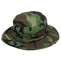 Fishing Hunting Army Marine Bucket Jungle Cotton Military Boonie Hat Cap Woodland Camo by Mrsight