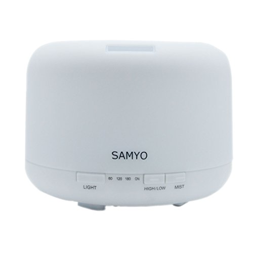 Samyo 500ML Aromatherapy Essential Oil Diffuser Air Humidifier with 4 Timer Settings & Color Changing Unimportant