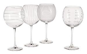 Mikasa Cheers Balloon Wine Goblet, Set of 4