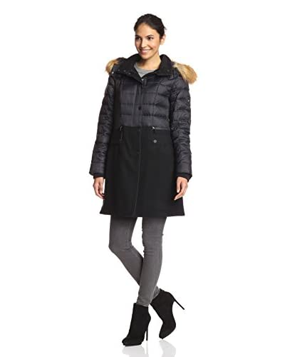 1 Madison Women's Combo Coat with Faux Fur