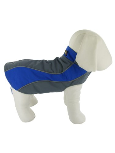 Kakadu Pet Nylon Fleece Reflective Medium Dog Coat
