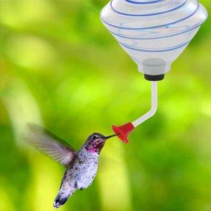 Hampton Direct 186046 Hand Blown Glass Hummingbird Feeder