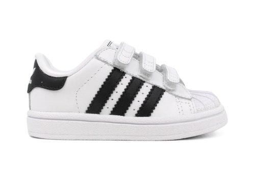 Adidas Originals Superstar 2 Comfort Sneaker (Infant/Toddler),White/Black/White,3 M Us Infant front-862557