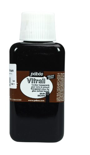 Pebeo 250Ml Vitrail Stained Glass Effect Paint Bottle, Brown