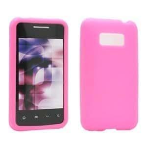 LG LS696 Optimus Elite Silicone Skin, Pink