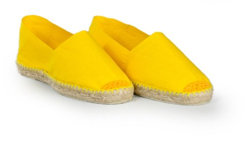 Espadrille-homme-jaune-fabrication-artisanale-made-in-pays-basque-france