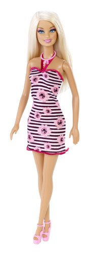 Barbie Pink and Black Halterneck Dress 12 Inch Doll by Mattel