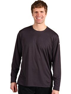 ASICS Men's Core Long Sleeve Shirt, Iron, Large
