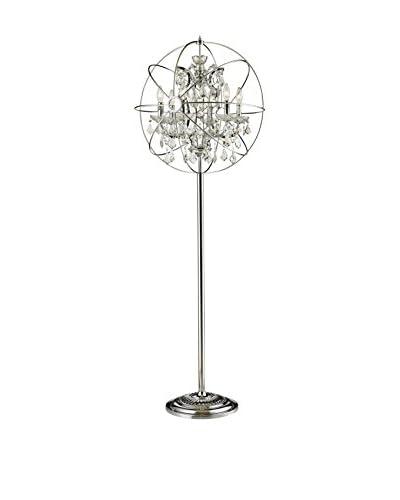 CDI Furniture Antique Finish Orb Floor Lamp , Chrome