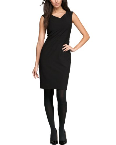 Comma Damen Kleid (knielang) Regular Fit 81.312.82.2706 KLEID KURZ, Gr. 40, Schwarz (9999 black)