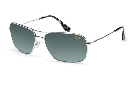 New Maui Jim Mavericks GS264-17 Silver / Neutral Grey 61mm P