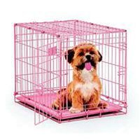 MidWest Single Door Dog iCrate, 24-Inch, Pink