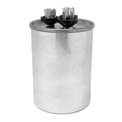 Capacitor 60+5 Mfd 370 Vac Round Onetrip Parts® Replacement For Rheem Ruud Weatherking 43-25133-10 front-474172