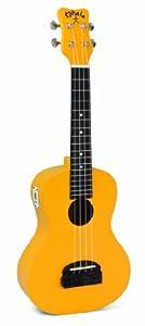 Kohala KT-CTYE Tiki Concert Ukulele with Tuner, Yellow