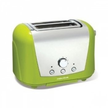 Morphy Richards Accents 44384 2 Slice Toaster, Lime Green from Morphy Richards
