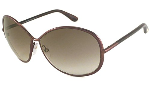 Tom Ford Women's 0180 Iris Burgundy Frame/Brown Gradient Lens Metal Sunglasses (Tom Ford Iris compare prices)