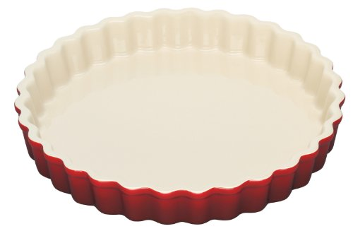 Le Creuset Stoneware 1-1/2-Quart Tart Dish, Cherry