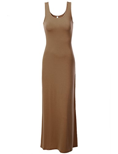 J.Tomson Womens Sleeveless Maxi Dress Mocha Small