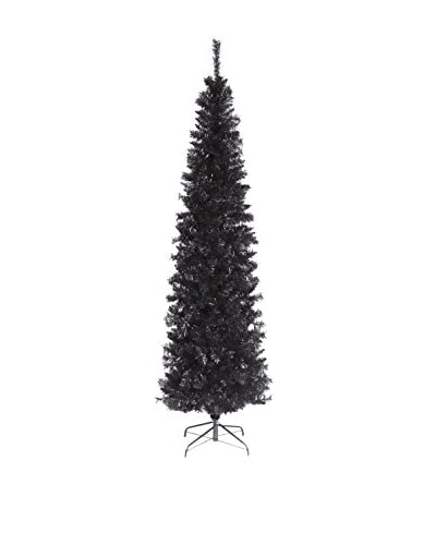 National Tree Company 6' Black Tinsel Tree