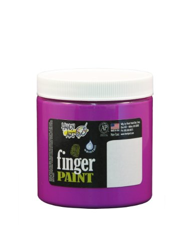 Handy Art by Rock Paint 246-159 Washable Finger Paint, 1, Fluorescent Violet, 8-Ounce - 1