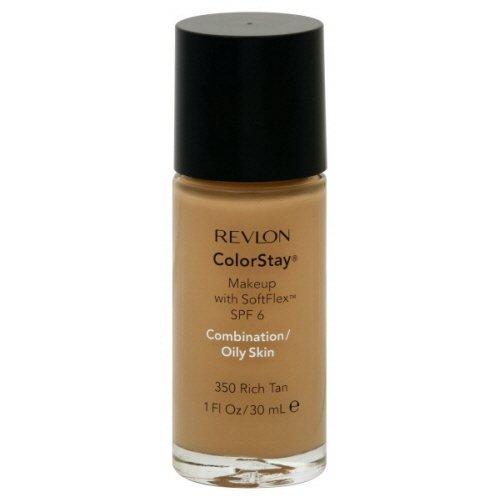 Fondotinta - Revlon ColorStay Makeup Combination/Oily Skin 350 Rich Tan - Confezione Doppia
