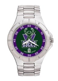 Milwaukee Bucks NBA PRO II Metal Sports Watch by Logo Art