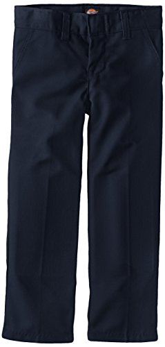 Dickies Little Boys' Uniform Flex Waist Flat Front Pant, Dark Navy, 7