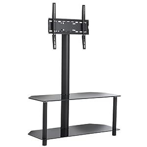 The Best  VonHaus Glass Floor TV Stand and Swivel Bracket