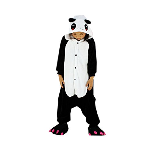 Gzhy-red Tear Panda Kigurumi Children's Halloween Cosplay Costumes Pajama Onesies
