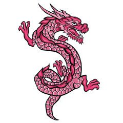 DRAGON 5 Temporary Tattoo 2.5×3.5