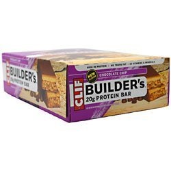 Clif Builder'S Protein Bar Chocolate Chip - 12 - 2.4 Oz (68G) Bars