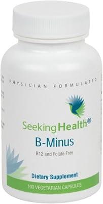 B-Minus | Provides Thiamin, Riboflavin, Niacin, Vitamin B6, Pantothenic Acid, Biotin | Free of B12 and Folate | Non-GMO | Physician Formulated | 100 Vegetarian Capsules |Seeking Health