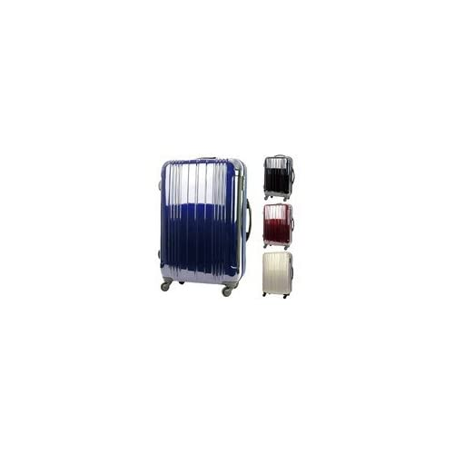 LEGEND WALKER[レジェンドウォーカー] TSAロック拡張ダブルファスナー機能付4輪トラベルスーツケース<4色3サイズ> BLACK【M】