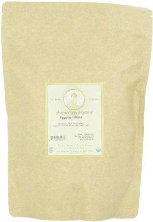 Zhena'S Gypsy Tea Egyptian Mint Organic Loose Tea, 16-Ounce Bag