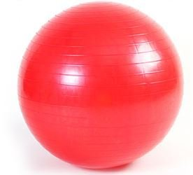 LHTL® 65CM ANTI BURST GYM EXERCISE BALL SWISS YOGA + Pump (Red)