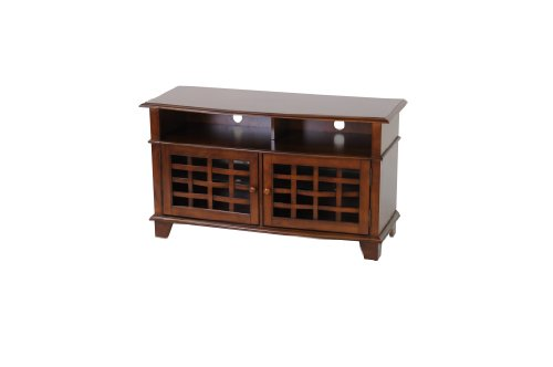 Image of Poundex TV Stand of Simplicity, 240-Pound Capacity, Antique Birch (F4514)