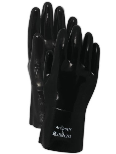 Magid 2362T Chemical Resistant Collection Neoprene Coated 12-Inch Gauntlet Gloves, Men's One Size