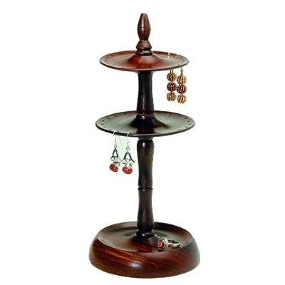 Fair Trade Handmade Wood Earring Stand