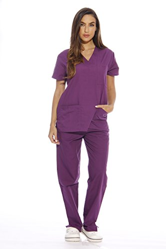 22257V-M Eggplant Just Love Women's Scrub Sets / Medical Scrubs / Nursing Scrubs