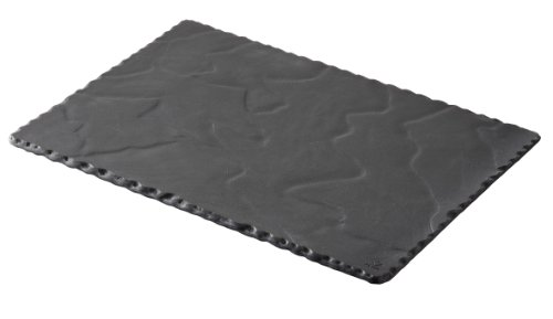 Revol Basalt Collection, 11-3/4 By 7-3/4-Inch Rectangular Plate, Slate