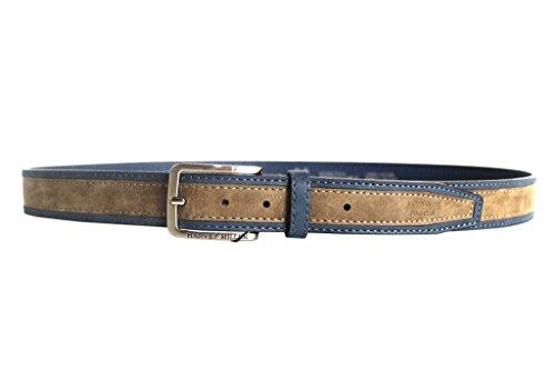 Set Cintura uomo e vassoio Harvey Miller in box 872.35 blu taupe
