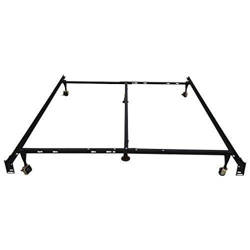 Lowest Prices! LANGRIA Adjustable Heavy Duty Metal Bed Frame (1000 lbs. Capacity, 6-Leg Support, 7.5...