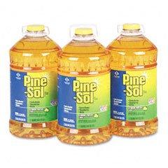 Pine-Sol All-Purpose Cleaner, Lemon Scent, 144 Oz. Bottle, 3/Carton