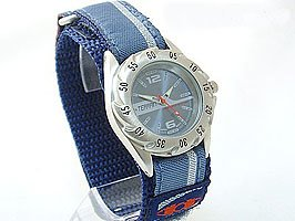 Boys/Teenagers Blue Terrain Boardrider Sports Surf Watch-Velcro Strap+Rotating Bezel-50m Water Resitant-1330b