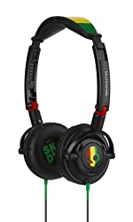 Skullcandy S5LWDY-058 On-Ear Headphone with Mic (Rasta)