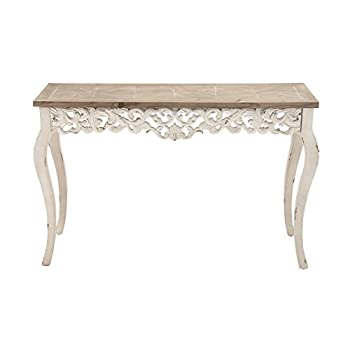 "Deco 79 56564 Wood Carved Console Table, 46"" x 30"""