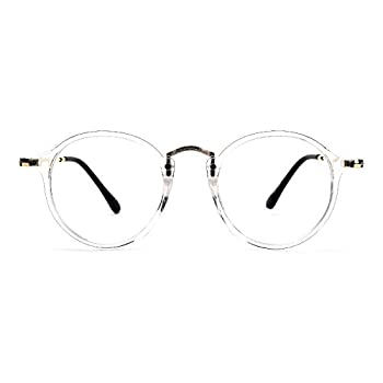 TIJN Vintage Round Prescription Eyewear Eyeglasses Frame with Clear Lenses for Women