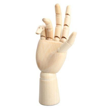 Mannequin Hand - Yookat Wood Art Mannequin Hand Model - Perfect for Drawing, Sketch, etc.(Male Hand) (Small Drawing Mannequin compare prices)