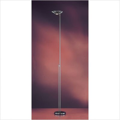 P-1129 Halogen Floor Lamp with Dimmer Finish: Brushed Nickel
